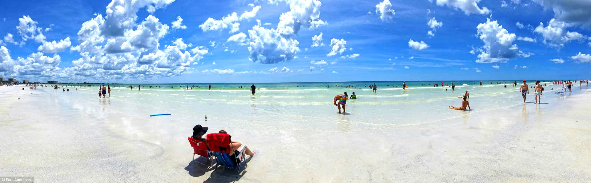 Siesta Key Beach Panormaic View